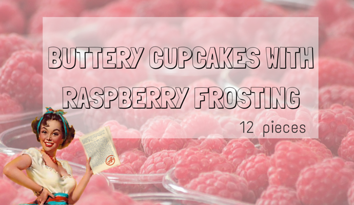 CUPCAKES with raspberry
