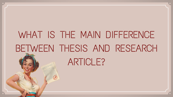 Differences between dissertation and thesis